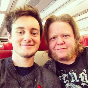 Me and Joey on Metro North.