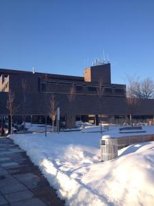 Prison-esque architecture at Purchase College.