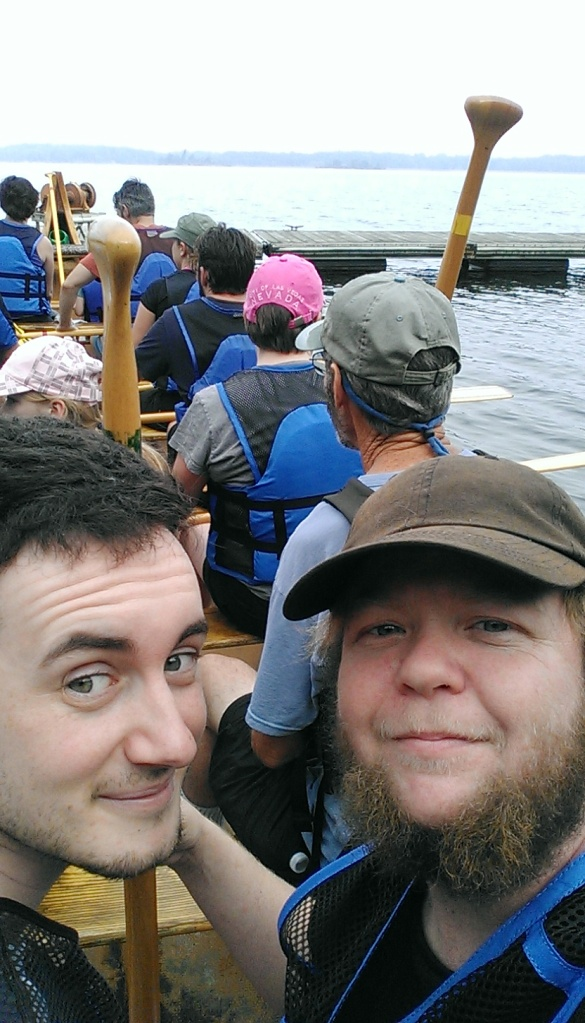Joey and I go canoeing in a 30 ft. canoe.