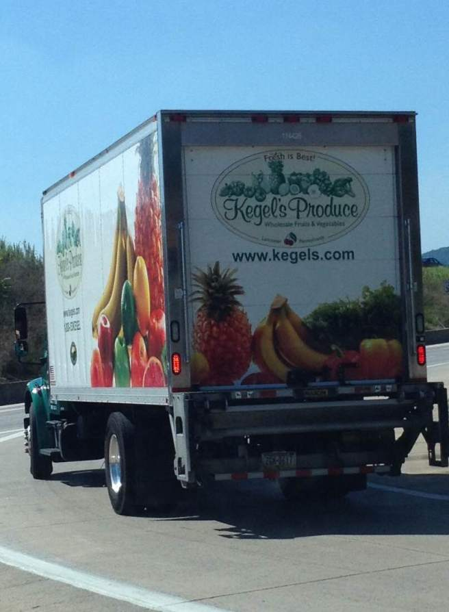 Truck for, um, Kegel…fruit. Lancaster, PA