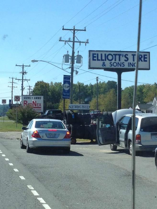 Elliott's Tire and RedNex Guns and Ammo, somewhere in Virginia